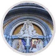 Basilica Of Our Lady Of Lourdes Round Beach Towel