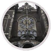 Basilica Of St Nicholas II Amsterdam Round Beach Towel