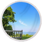 Bask In Beauty Round Beach Towel