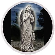 Bask In His Glory 02 Round Beach Towel
