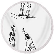 Basketball, 1893 Round Beach Towel