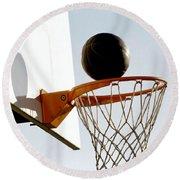 Basketball Hoop And Ball Round Beach Towel