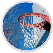Basketball Net Round Beach Towel