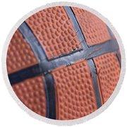 Basketball Study 4 Round Beach Towel