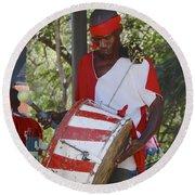 Bass Drummer Labadee Haiti Round Beach Towel