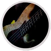 Bass Guitar Round Beach Towel