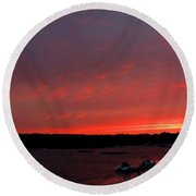 Bass River Sunrise Round Beach Towel
