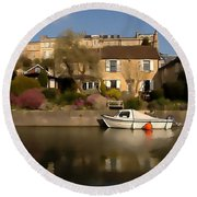 Bath Canalside Round Beach Towel