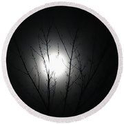 Bathed In Moonlight Round Beach Towel