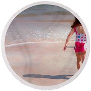 Bathing Beauty Two Round Beach Towel