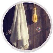Bathroom Towel Round Beach Towel by Amanda Elwell