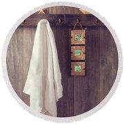 Bathroom Wall Round Beach Towel by Amanda Elwell