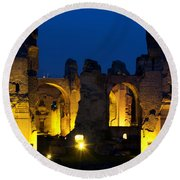 Baths Of Caracalla Round Beach Towel