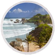 Bathsheba Beach Round Beach Towel