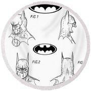 Batman Face Guard Round Beach Towel