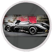 Batmobile Round Beach Towel