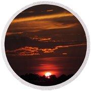 Baton Rouge Sizzling Sunday Sunset  Round Beach Towel
