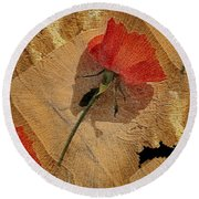 Bats And Roses Round Beach Towel