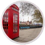 Battersea Phone Box Round Beach Towel