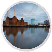 Battersea Power Plant. Round Beach Towel
