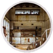 Battersea Power Station Interior Round Beach Towel