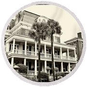 Battery Carriage House Inn Round Beach Towel