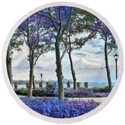 Battery Park In The Spring Round Beach Towel