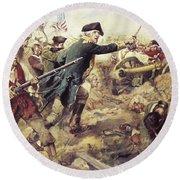 Battle Of Bennington Round Beach Towel by Frederick Coffay Yohn