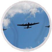 Battle Of Britain Memorial Flight Round Beach Towel