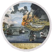 Battle Of Bunker Hill, 1775 Round Beach Towel