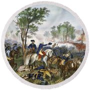 Battle Of Eutaw Springs Round Beach Towel