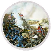 Battle Of Franklin Round Beach Towel