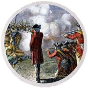 Battle Of Lexington Round Beach Towel