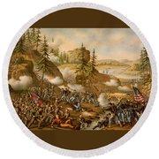 Battle Of Missionary Ridge Round Beach Towel