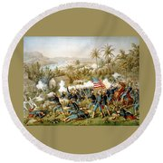 Battle Of Qusimas Round Beach Towel