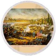Battle Of Stones River Round Beach Towel