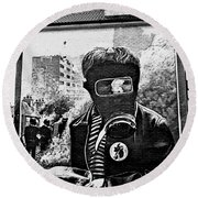 Battle Of The Bogside Mural II Round Beach Towel