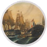 Battle Of Trafalgar Round Beach Towel