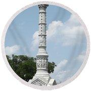 Battle Of Yorktown Monument Round Beach Towel