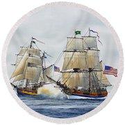 Battle Sail Round Beach Towel