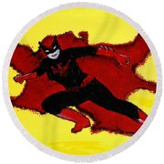 Batwoman Round Beach Towel
