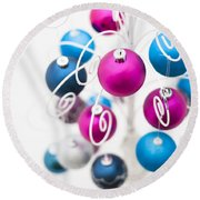 Baubles From Above Round Beach Towel by Anne Gilbert