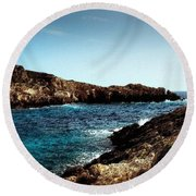 Bay And Sea Round Beach Towel