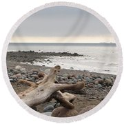 Bay Of Fundy Round Beach Towel