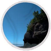 Bay Of Fundy Landmark Round Beach Towel