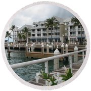 Bayfront Key West II Round Beach Towel