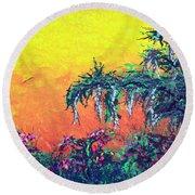 Bayou Honeymoon Round Beach Towel