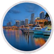 Bayside Marketplace Round Beach Towel