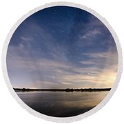 Bayville Nj Milky Way Round Beach Towel