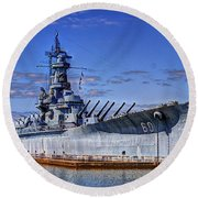Bb-60 Uss Alabama Round Beach Towel